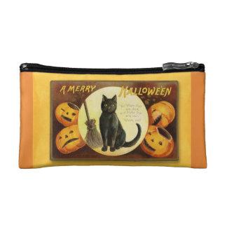 Vintage fröhliche Tasche schwarzer Katze