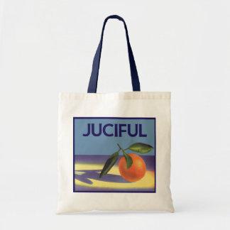 Vintage Frucht-Kisten-Aufkleber-Kunst, Juciful Tragetasche