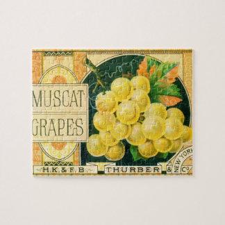 Vintage Frucht-Kisten-Aufkleber-Kunst, Puzzle