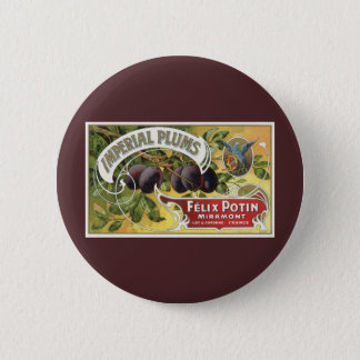 Vintage Frucht-Kisten-Aufkleber-Kunst, Runder Button 5,1 Cm