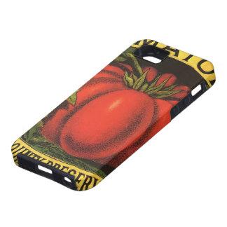 Vintage Frucht-Kisten-Aufkleber-Kunst, Tomaten iPhone 5 Schutzhülle