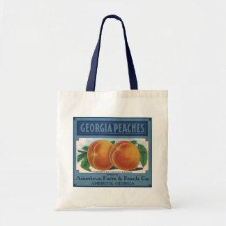 Vintage Frucht-Kisten-Aufkleber-Kunst, Tragetasche