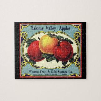 Vintage Frucht-Kisten-Aufkleber-Kunst Yakima Puzzle