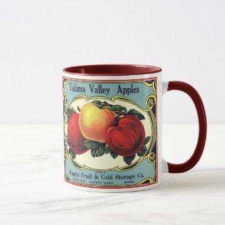 Vintage Frucht-Kisten-Aufkleber-Kunst Yakima Tasse