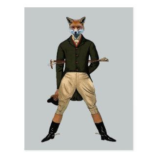 Vintage Fuchs Jagd Postkarte
