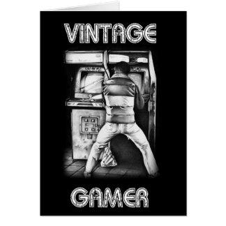 Vintage Gamer-Geburtstags-Karte Karte