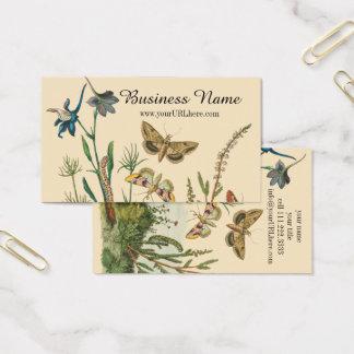 Vintage Garten-Insekten, Schmetterlinge, Raupen Visitenkarte