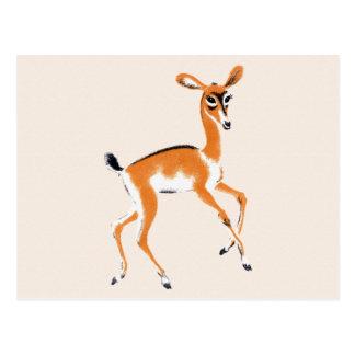 Vintage Gazelle Postkarte