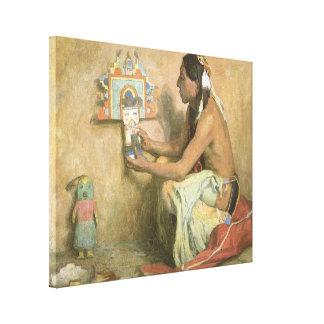 Vintage gebürtige Amerikaner, Hopi Katchina durch Leinwanddruck