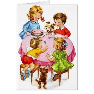 Vintage Geburtstags-Gruß-Karte Grußkarte