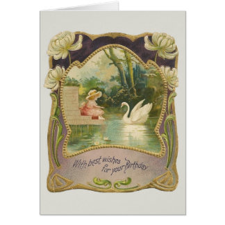 Vintage Geburtstags-Gruß-Karte Karte