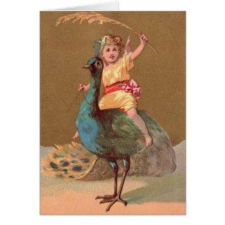 Vintage Geburtstags-Karte Grußkarte