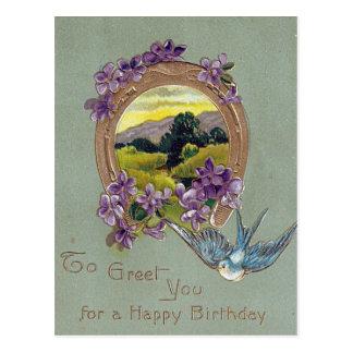 Vintage Geburtstags-Postkarte Postkarte
