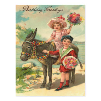 Vintage Geburtstags-Postkarte Postkarten