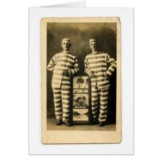 Vintage Gefangene Grußkarte