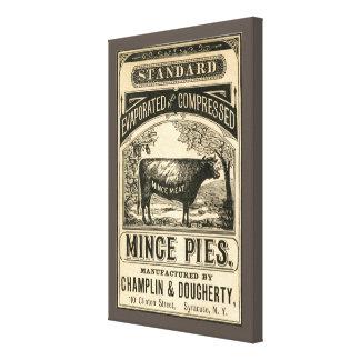 Vintage gehackte Torten-Anzeigen-Leinwand-Kunst Leinwanddruck