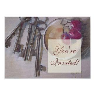 Vintage geheime Skeleton Schlüssel 11,4 X 15,9 Cm Einladungskarte