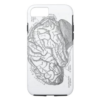 Vintage Gehirn-Anatomie iPhone 8/7 Hülle