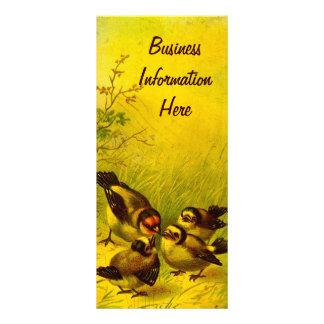 Vintage gekeuchte Spatzen-Lesezeichen-Gestell-Kart Kartendruck