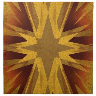 Vintage gelbe Sternexplosion Serviette