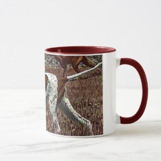 Vintage gemalte Zeiger-Keramik-Tasse Tasse