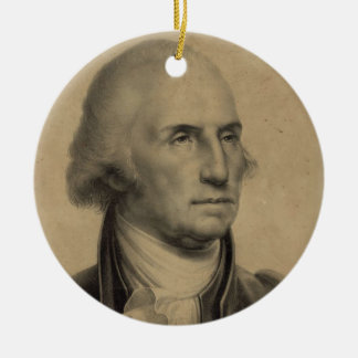 Vintage George- Washingtonporträt-Illustration Keramik Ornament