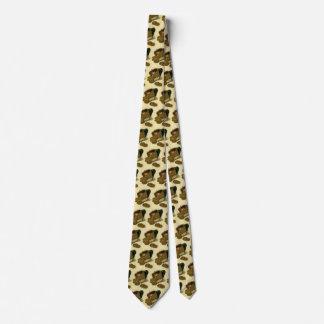 Vintage Geschäfts-Finanzierung, Goldmünze-Geld im Personalisierte Krawatte