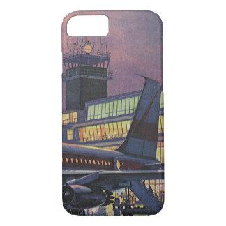 Vintage Geschäfts-Passagiere auf Flugzeug am iPhone 8/7 Hülle