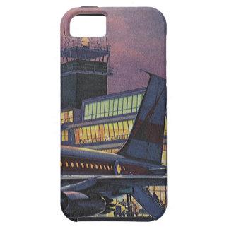 Vintage Geschäfts-Passagiere auf Flugzeug am Tough iPhone 5 Hülle