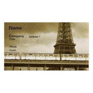 Vintage Geschäftskarte Eiffel-Turms Visitenkarten