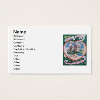 Vintage Geschwätz-Schloss-St Patrick Gruß-Karte Visitenkarten