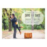 Vintage getippte Save the Date Mitteilung Individuelle Einladungen