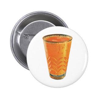 Vintage Getränke, Glas des Orangensaft-Frühstücks Runder Button 5,1 Cm