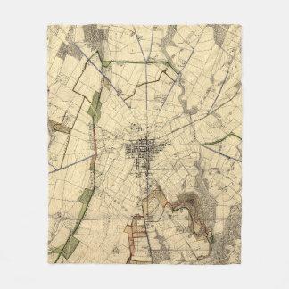 Vintage Gettysburg-Schlachtfeld-Karte (1898) Fleecedecke