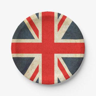 Vintage Gewerkschafts-Jack-britische Pappteller