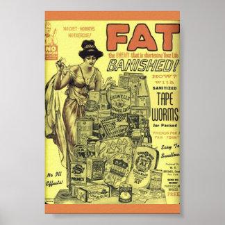 Vintage Gewichts-Verlust Anzeige SANIERTE Poster