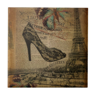 Vintage girly Schuhe Turms Paris Eiffel Fliese