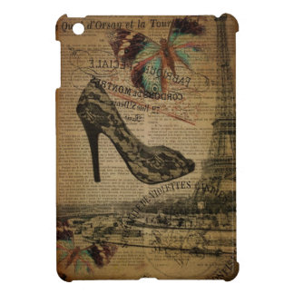 Vintage girly Schuhe Turms Paris Eiffel iPad Mini Hülle