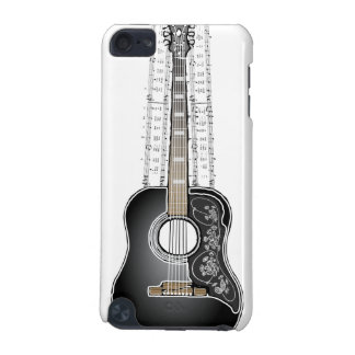 Vintage Gitarre mit Blatt-Musik - iPod-Touch-Fall iPod Touch 5G Hülle