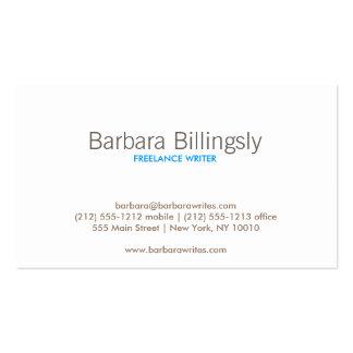 VINTAGE GLAMOUR Geschäfts-Karte Visitenkarten