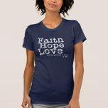 Vintage Glauben-Hoffnungs-Liebe T Shirts