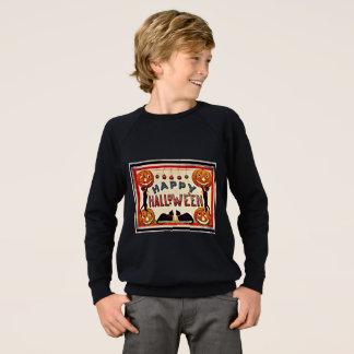 Vintage glückliche Halloween-Kürbis-schwarze Sweatshirt