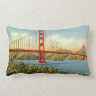Vintage Golden Gate Brücke San Francisco Reise Lendenkissen