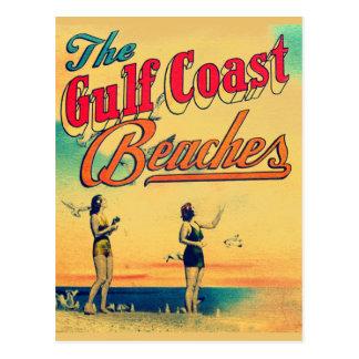 Vintage Golf-Küste Florida setzt Postkarte auf den