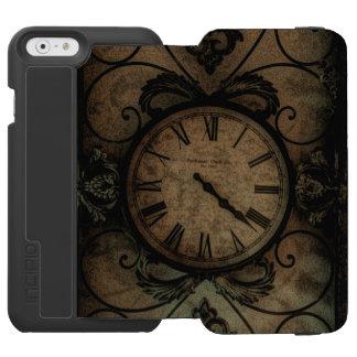 Vintage gotische antike Wand-Uhr Steampunk Incipio Watson™ iPhone 6 Geldbörsen Hülle