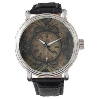 Vintage gotische antike Wand-Uhr Steampunk Uhr