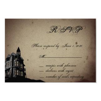 Vintage gotische Haus-Hochzeits-Wartekarte 8,9 X 12,7 Cm Einladungskarte