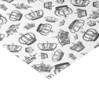Vintage gravierte königliche Kronen Seidenpapier