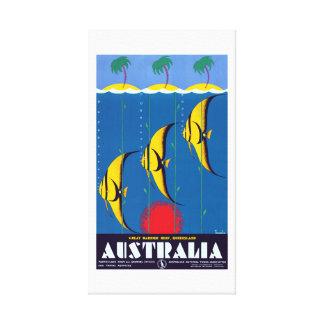 Vintage Great Barrier Reef Australien Reise Leinwanddruck