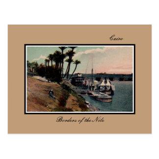 Vintage Grenzen Kairos Ägypten des Nils Postkarte